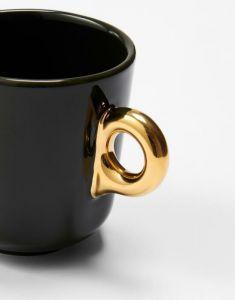 Essenza Sculpture Dark Green Small mug 17 cl