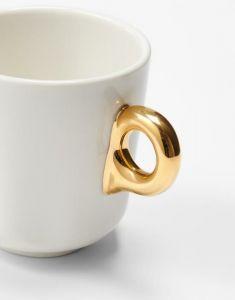 Essenza Sculpture Off white Small mug 17 cl