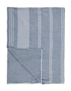 Marc O'Polo Sevli Blau Plaid 150 x 200 cm