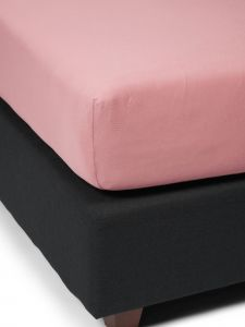 ESSENZA The Perfect Organic Jersey Dusty Rose Fitted sheet 90-100 x 200-220