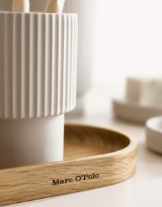 Marc O'Polo The Wave Weiß Badezimmer Tablett 25 x 10 x 2 cm