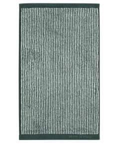 Marc O'Polo Timeless Tone Stripe Pine Green / Off White Gästetuch 30 x 50 cm