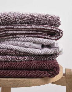 Marc O'Polo Timeless Tone Stripe Aubergine / lavender mist Towel 70 x 140