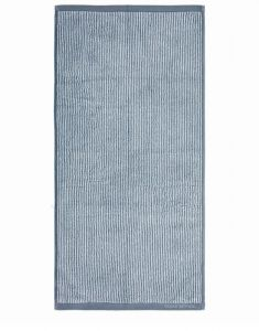 Marc O'Polo Timeless Tone Stripe Smoke Blue / Off White Gästetuch 30 x 50 cm