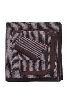 Marc O'Polo Timeless Tone Stripe Aubergine / lavender mist Washing mitt 16 x 22