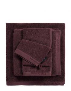 Marc O'Polo Timeless Uni Aubergine Guest towel 30 x 50
