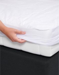 Essenza Waterproof 90c White Fitted sheet 160 x 200