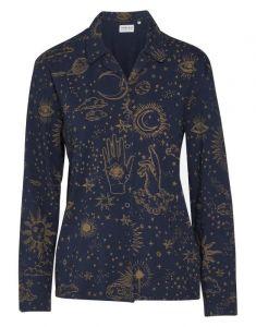 Covers & Co Zahra That's the spirit Nightblue Pyjama top long sleeve M