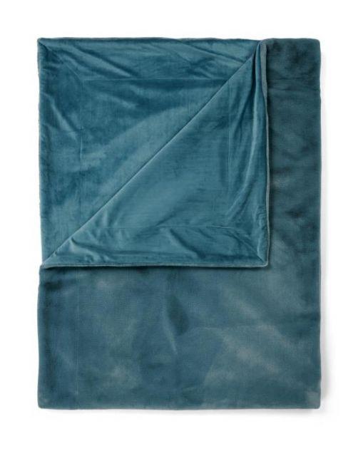 ESSENZA Furry Denim Plaid 150 x 200 cm