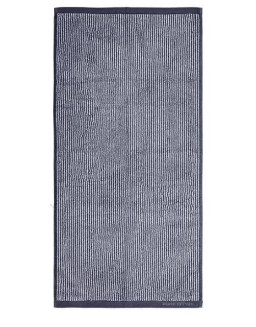 Marc O'Polo Timeless Tone Stripe Marine / Light Silver Handtuch 50 x 100 cm