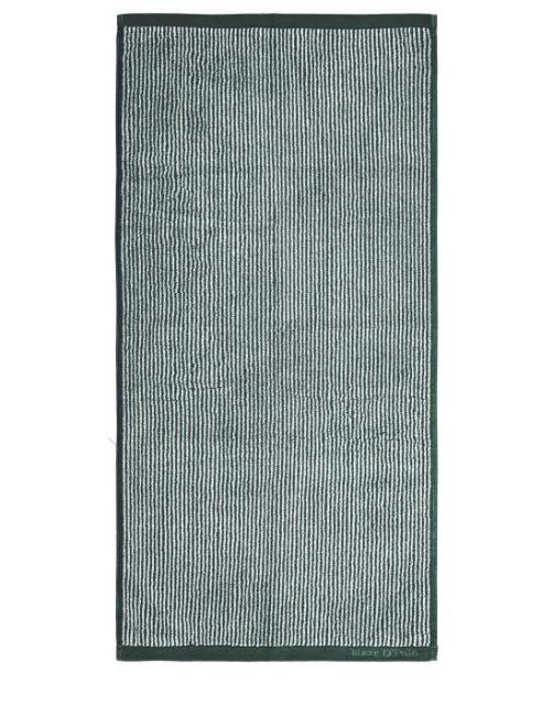 Marc O'Polo Timeless Tone Stripe Pine Green / Off White Handtuch 50 x 100 cm