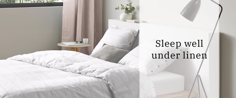 Lekker slapen onder linnen