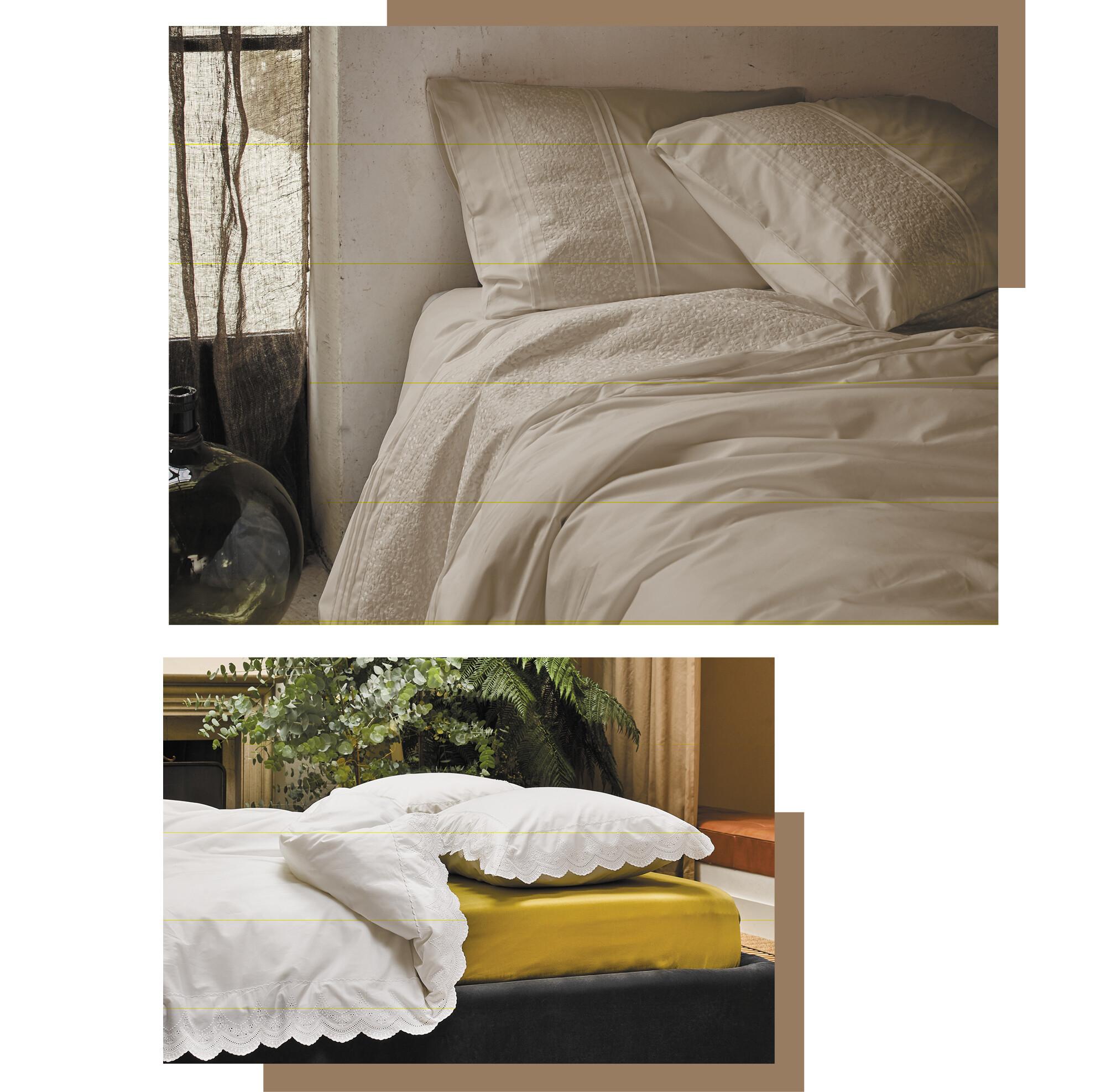 Cotton percale duvet covers uni